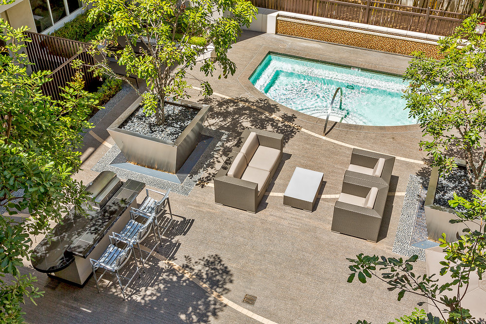 Viridian Apartments, Pool Deck