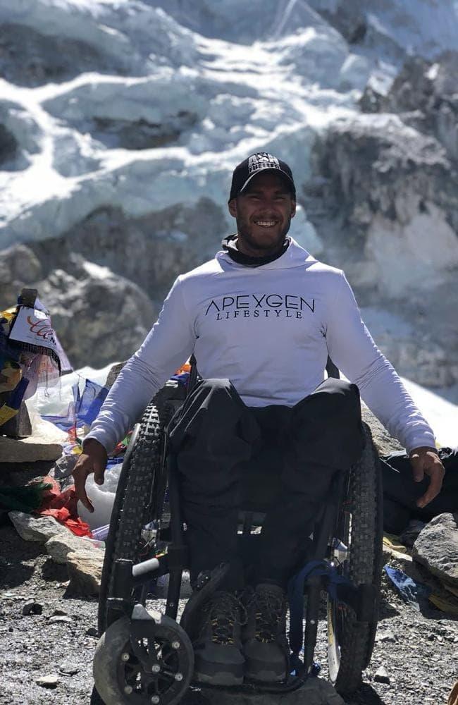Scott Doolan at Everest Base Camp in Nepal.Source:AFP