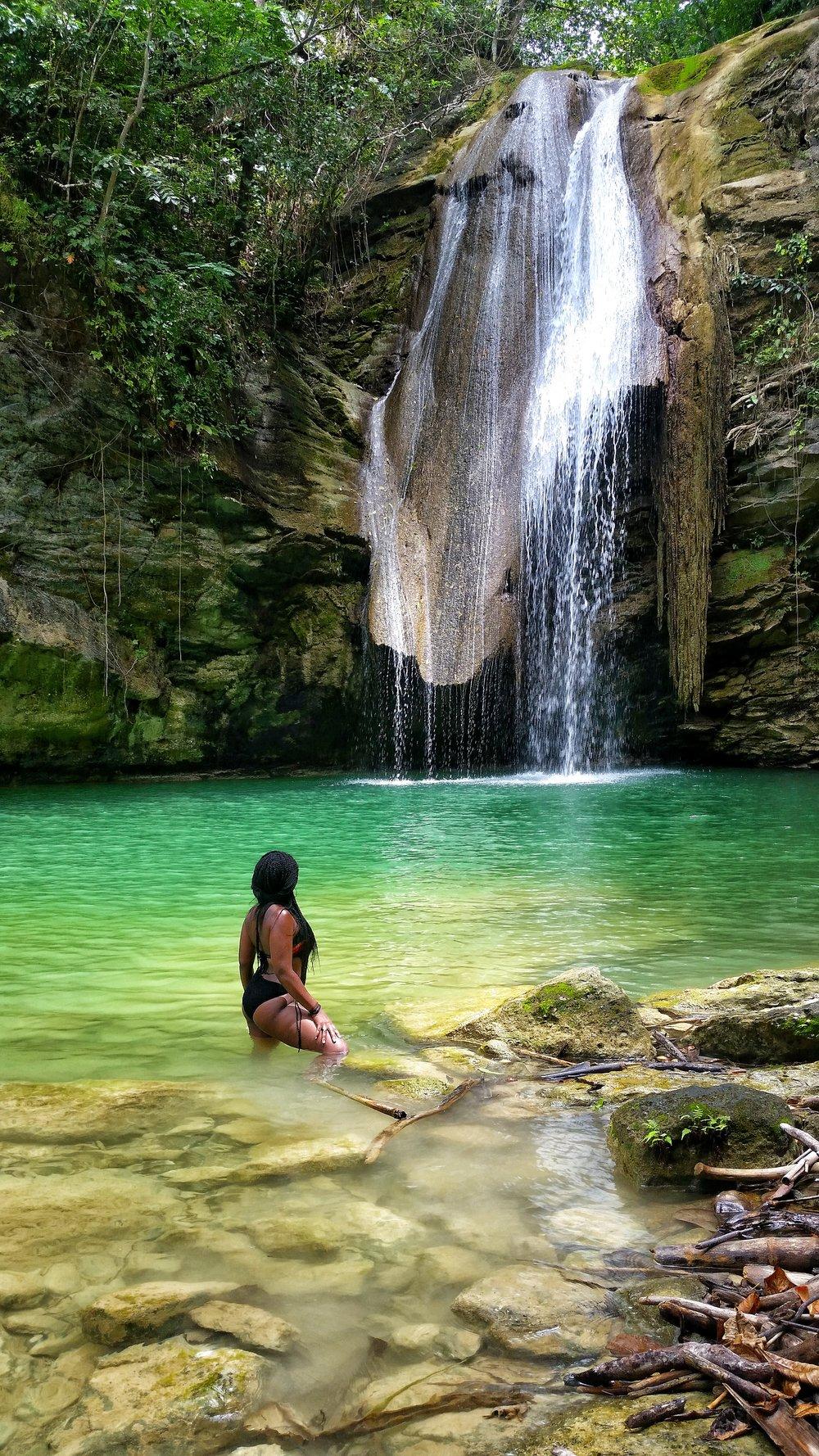 Chilling at Kwame Falls