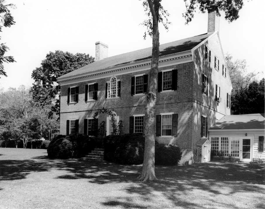 Beverly (1774). Just like Cloverfields, Beverly is an eighteenth-century two-story brick dwelling located in Maryland. / Photo credit: Michael H. Day, 09/1988 ,  Maryland's National Register Properties .