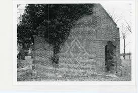 Malvern Hill  (c. 1700). now destroyed. it included a diamond shaped pattern in its East gable end. / photo credit: virginia historic landmarks comMission, 1968.