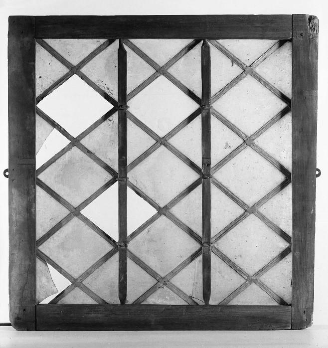 figure 1 - leaded casement window, 17th century, museum of fine arts, boston. accession no. 27.794.  https://www.mfa.org/collections/object/leaded-casement-window-38287