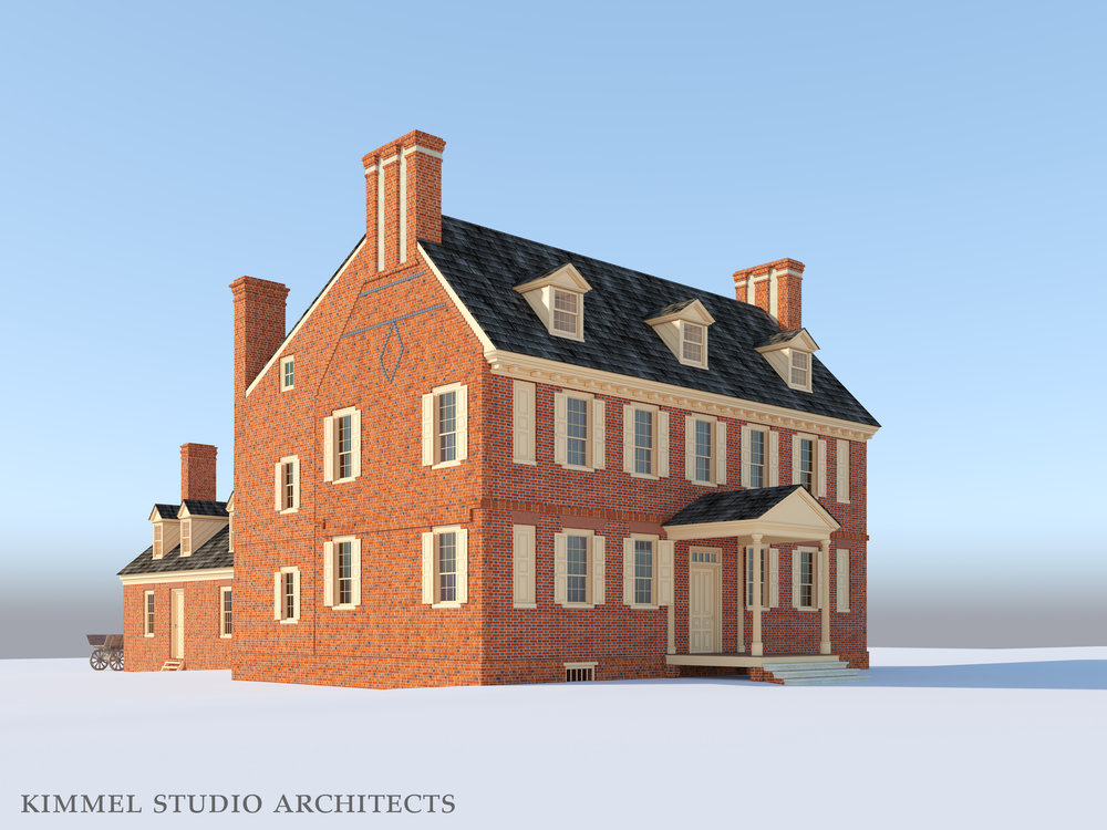 Kimmel Studio Architects - Cloverfields 3D Studies - 1784 Front.jpg