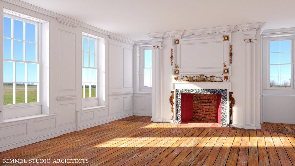 Kimmel Studio Architects - Cloverfields 3D Studies - Fireplace Carving.jpg