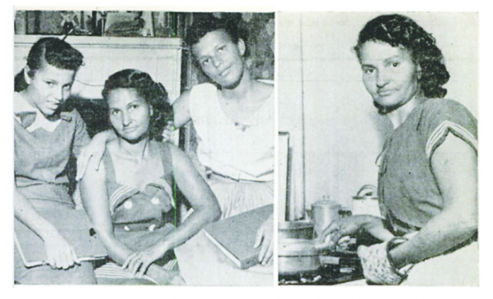 These pictures of Blois Hundley and her daughters appeared in a 1958 article in Jet Magazine.