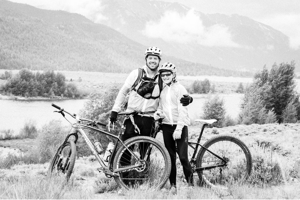 Josh Colley and daughter Mitchek near Leadville, Coloraado.