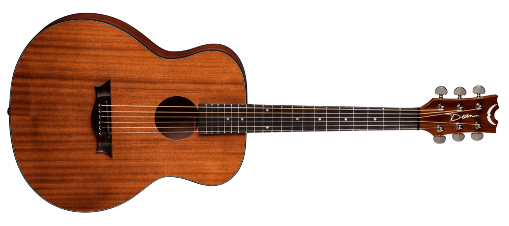 Acoustic Mini and Lesson Package $225 (reg $309) - 1. Dean AXS MINIThe Dean AXS Mini Acoustic Guitar is an affordable steel-string with a full sound and some amazing looking wood. It features a mini-size body made of mahogany with a top that really shows off this tonewood's exquisite grain, all highlighted by 3-ply body binding. The guitar is full-scale with a set mahognay neck and a comfortable