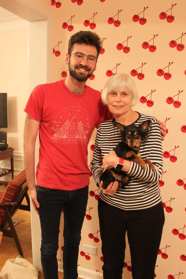 Sam and his grandmother Patricia (and dog Cocoa!)