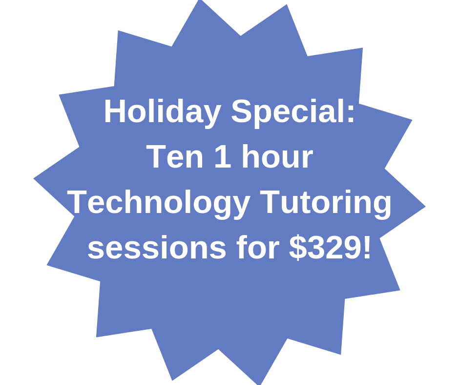 Holiday Tech Tutoring Special