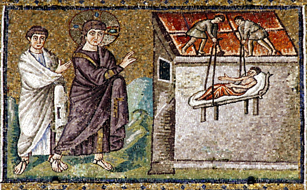 Jesus healing the paralytic - Sant'Apollinare Nuovo - Ravenna