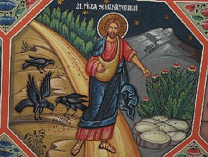 An icon depicting the Sower. In Sts. Konstantine and Helen Orthodox Church, Cluj, Romania.