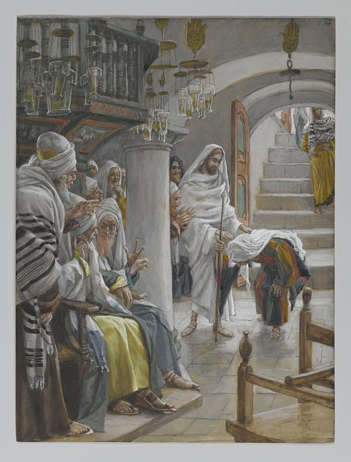 Christ healing an infirm woman on the Sabbath, by James Tissot, 1886-1896