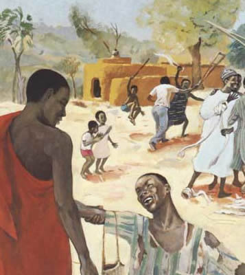 JESUS MAFA, Cameroon, Africa, 1973  Healing of the Ten Lepers , from  Art in the Christian Tradition , a project of the Vanderbilt Divinity Library, Nashville, TN.