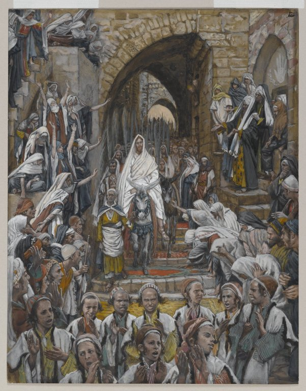 James Tissot (1836–1902) Français : Le cortège dans les rues de Jérusalem. English: The Procession in the Streets of Jerusalem