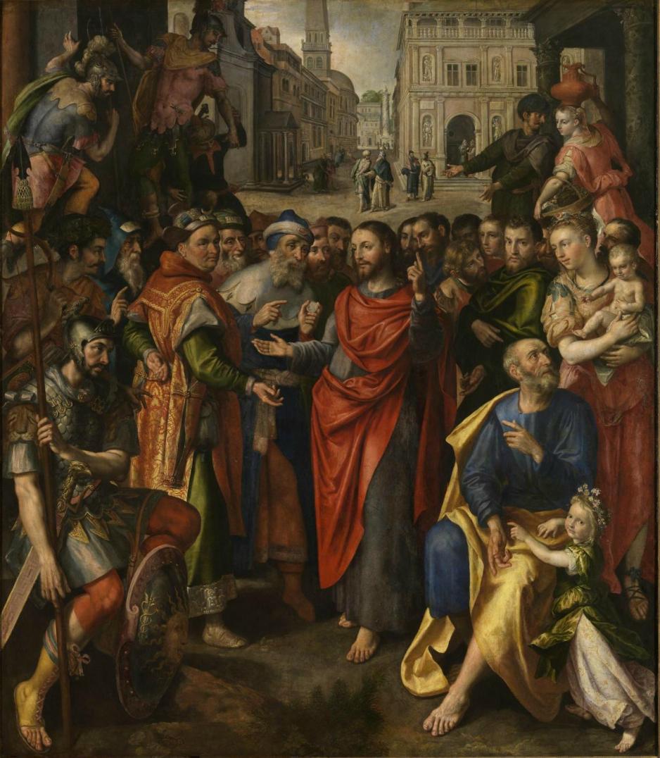 Maerten de Vos (1532–1603) Render unto Caesar, 1602
