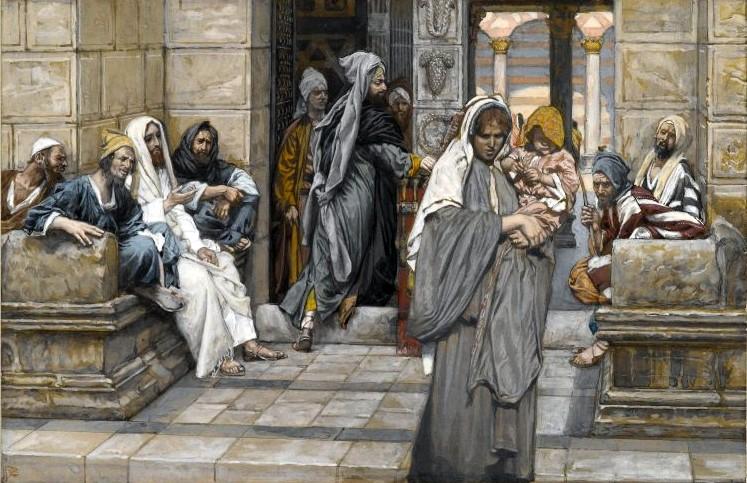 James Tissot (1836–1902)Le denier de la veuve  English: The Widow's Mite