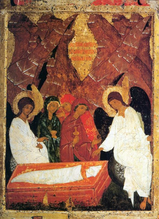 Icon of women who went to the Tomb of Christ