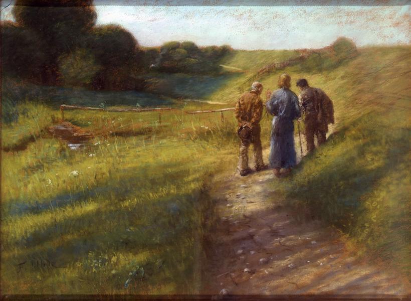 Fritz von Uhde (1848–1911) Road to Emmaus ,1891