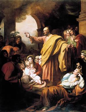 Benjamin West (1738–1820)St. Peter Preaching at Pentecost