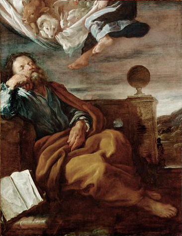 The vision of Peter, painted by  Domenico Fetti .