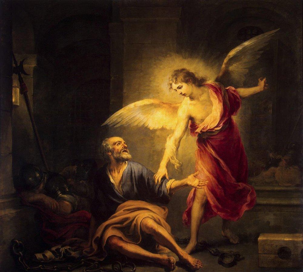 Bartolomé Esteban Murillo , Liberation of St. Peter