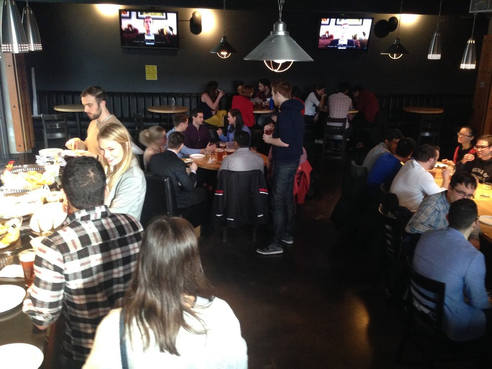 After-party at the SFU Pub, Research Day 2017