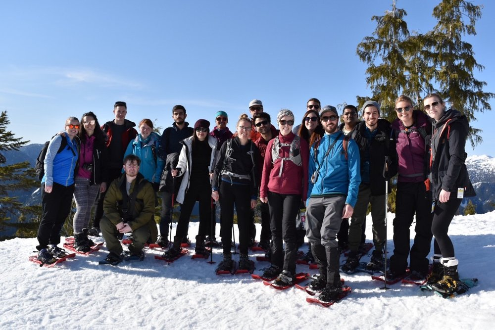 Snowshoeing in the sunshine on Mt. Seymour, Spring 2018