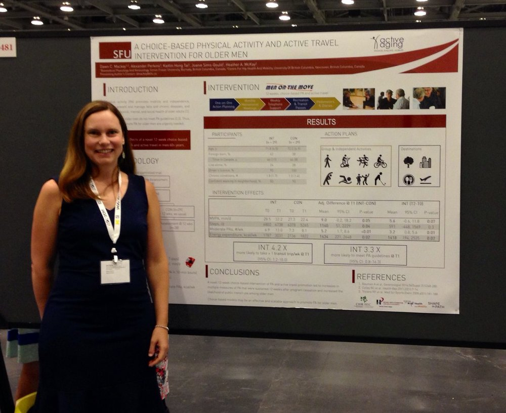 Dawn presenting the Men On the Move Study, IAGG 2017