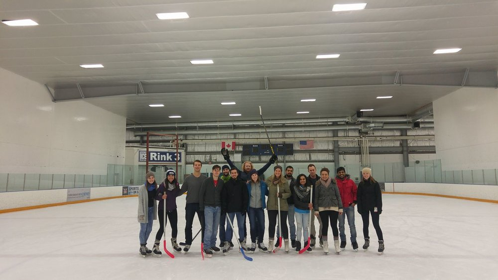 Skating and playing some Canadian hockey, Spring 2017