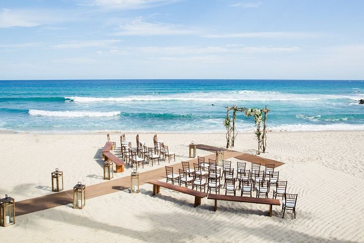 The Ceremony. - We will be committing to a lifetime together right on the beach in front of Cabo Surf Hotel. The background of the blue sea and the sound of crashing waves will be the commencement to our journey together.