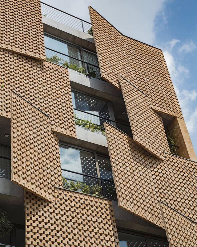Saadat Abad Residential Building by Mohsen Kazemianfard in Tehran Iran #facadefriday
