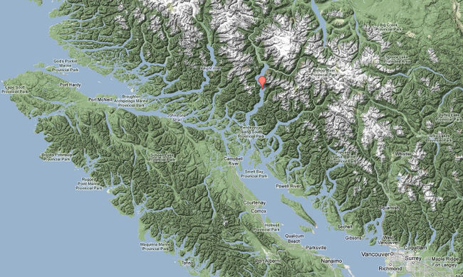 Bute Inlet & Blackfish Sound Map