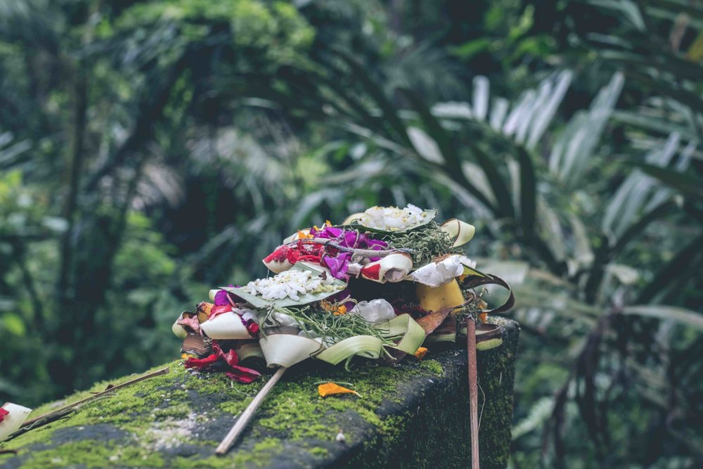 Balinese offering to the Gods