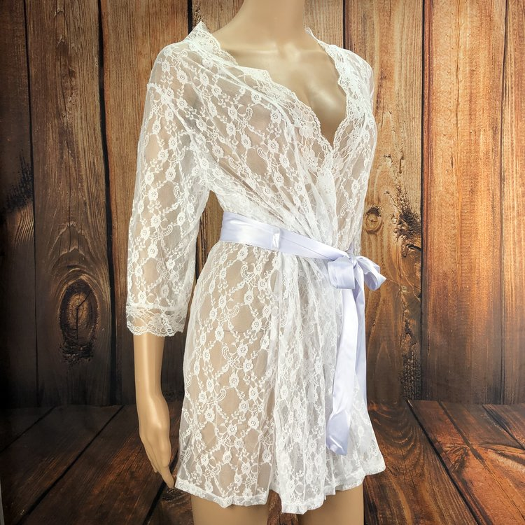 Wendy Sheer Lace Robe (S-L)  $29.99
