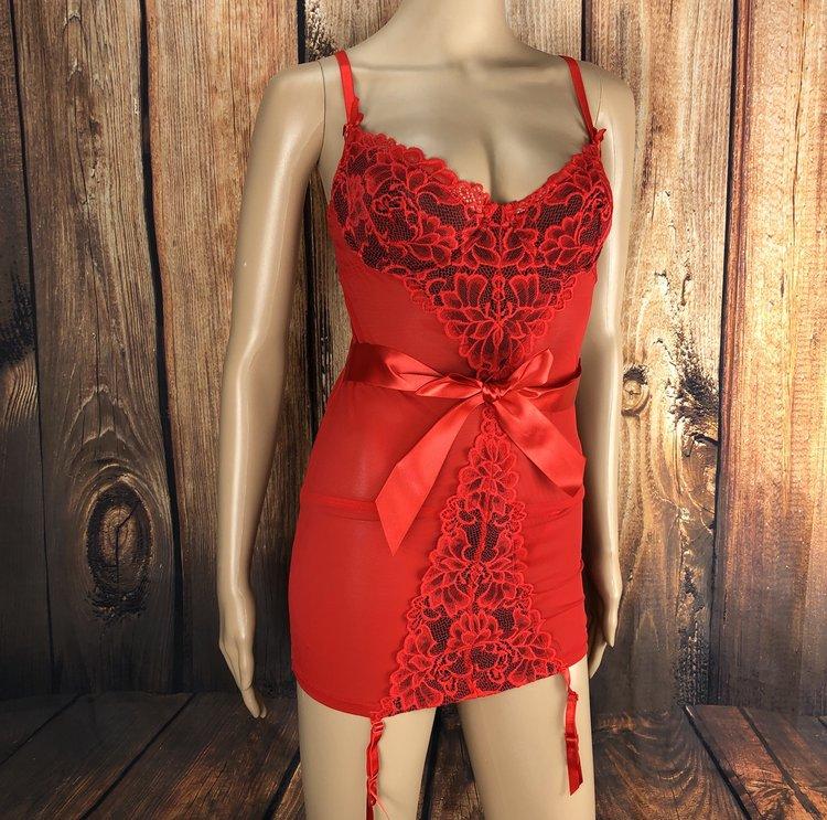 Anastasia Red Garter Chemise (M, L)  $16.99