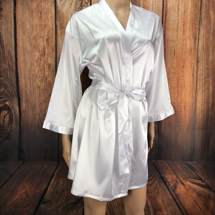 """Bride"" White Kimono Robe (S,M,L, XL)  $29.99"