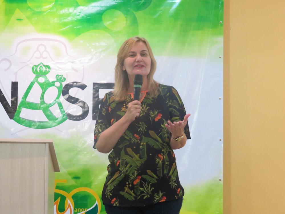 Katia Zavaris (coord. nacional da RCC Brasil) na ultima pregação do RENASEM 2018.