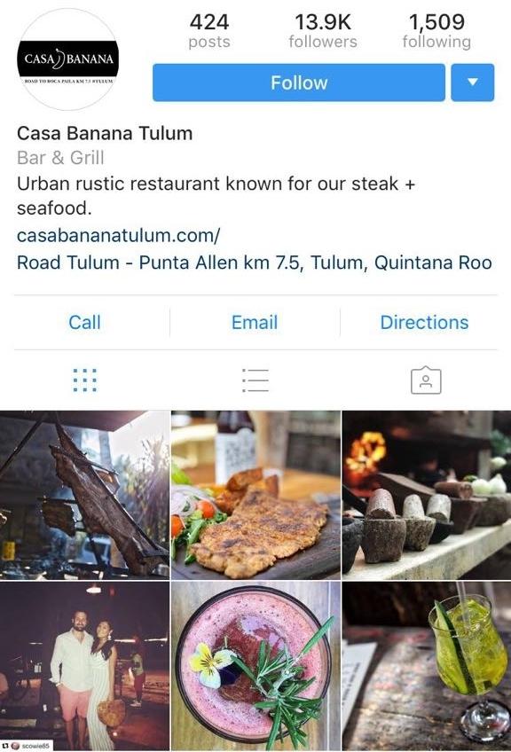 Instagram Casa Tulum