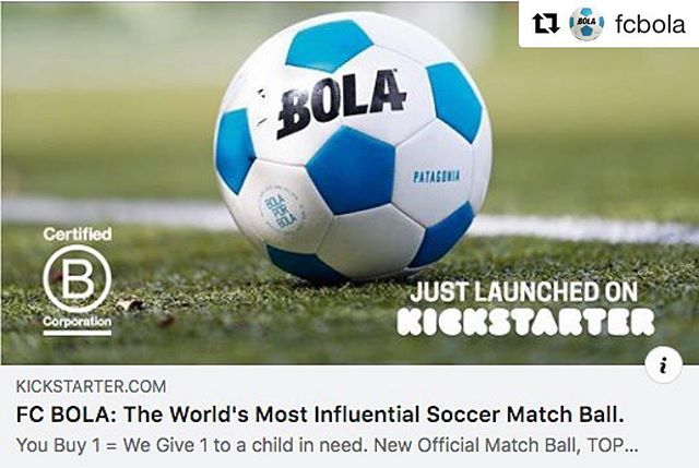 Proud of everything we've done so far with @fcbola and we are now  LIVE on Kickstarter! Please hit the link in their bio to support us and share with your friends and family!! http://bit.ly/FCBOLA_kickstarter