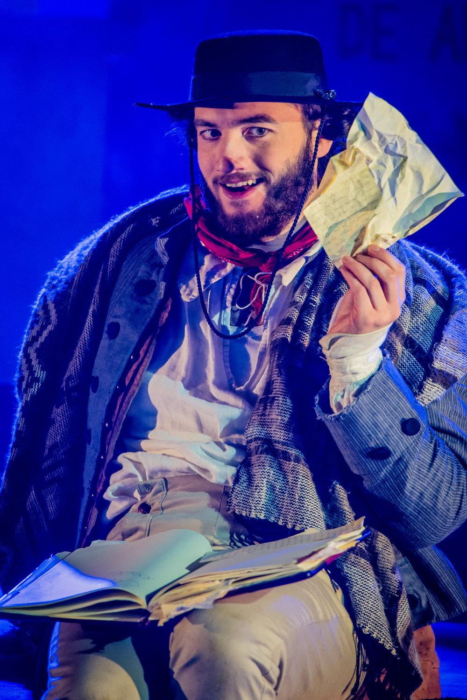 As Leporello in Don Giovanni,dir. Christopher Cowell, Royal Academy Opera, November 2017. Photo by Robert Workman.