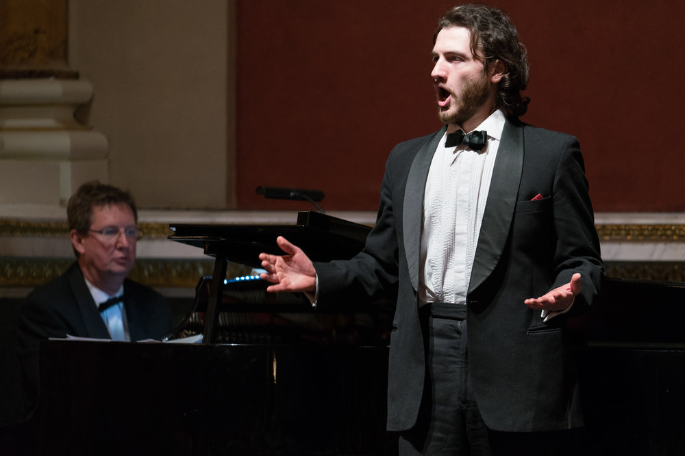 Performing with Ian Page at the Classical Opera and the Mozartists Gala Concert, Goldsmiths' Hall. Photo credit Roger Way
