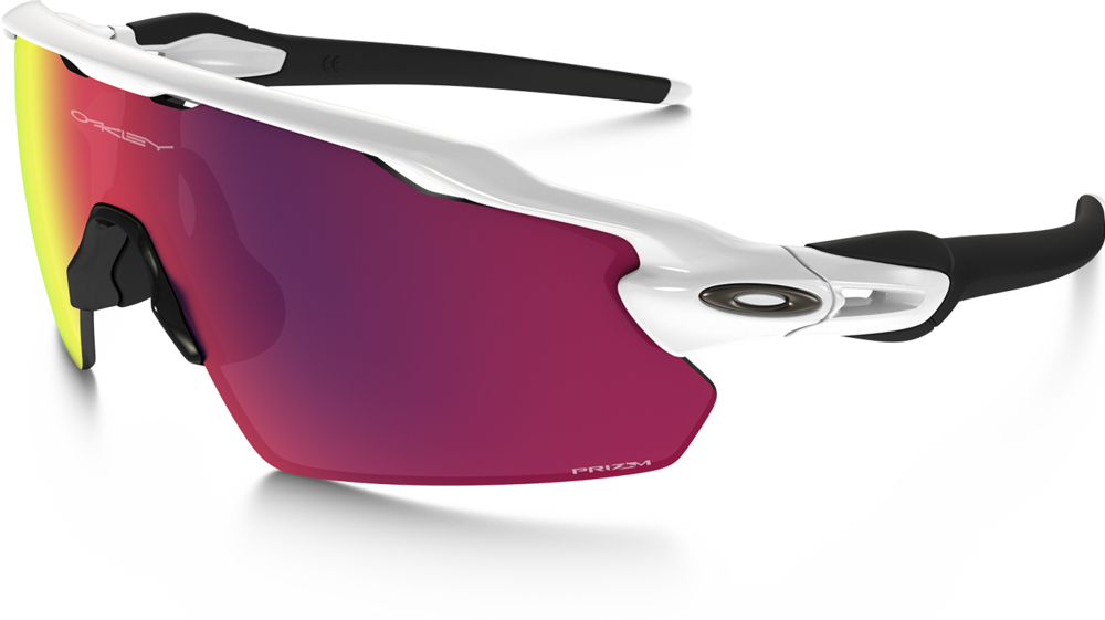 GAME SHADES• RADAR PATH EV MODEL (silver)  OAKLEY  Chaim's sole eyewear provider for 7 years. The RADAR PATH EV's give such a large field of view for up down and all around.   Oakley is the best for it's versatility (changeable lenses for different conditions).