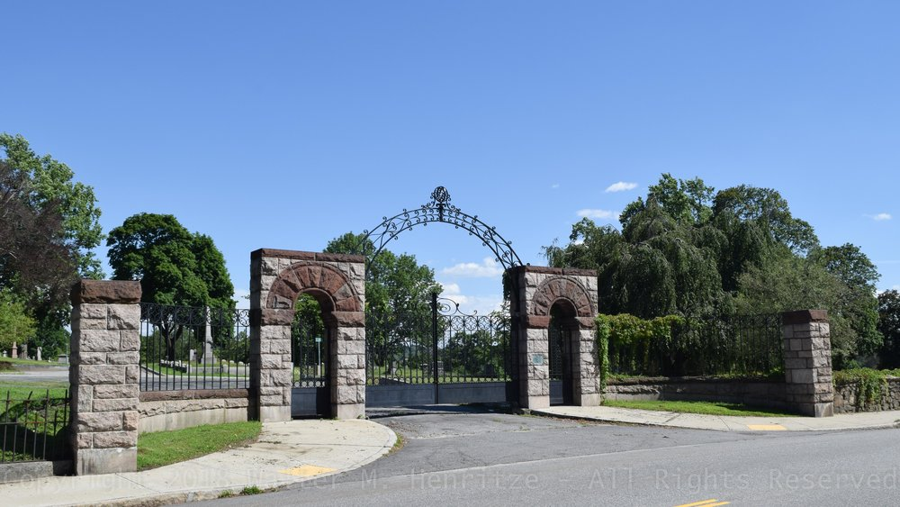 Hope Cemetery Gates: June 29, 2018