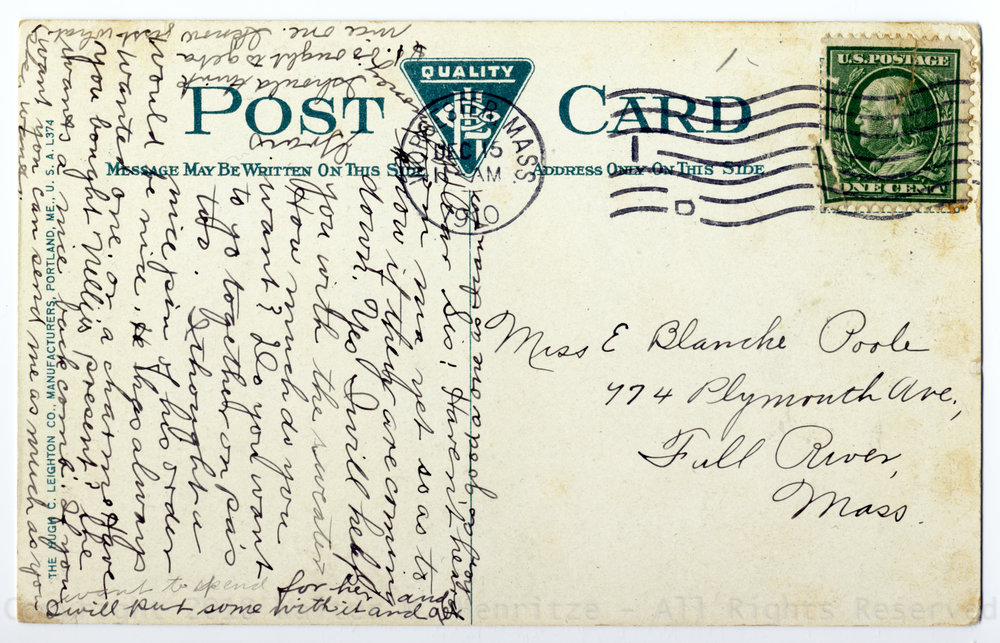 Postmark: 12/15/1910 - Worcester, Mass.