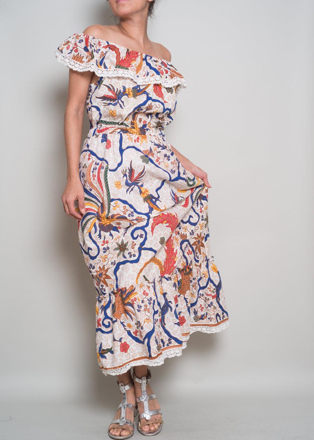 LILA White Lace Cotton Midi $189