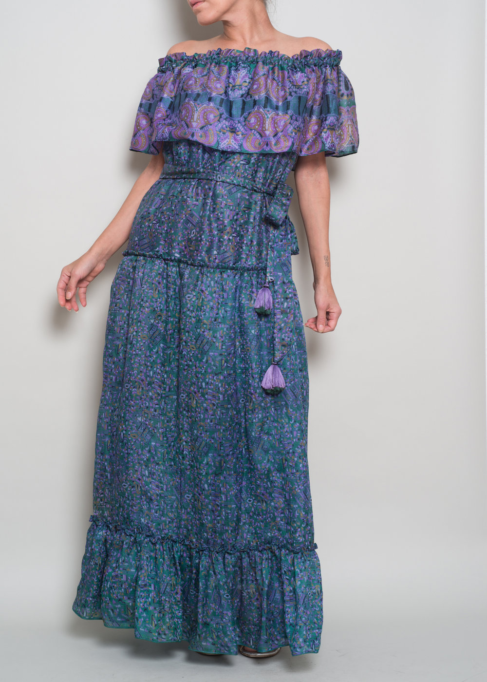 SERENA Tiered Flounce Maxi $415
