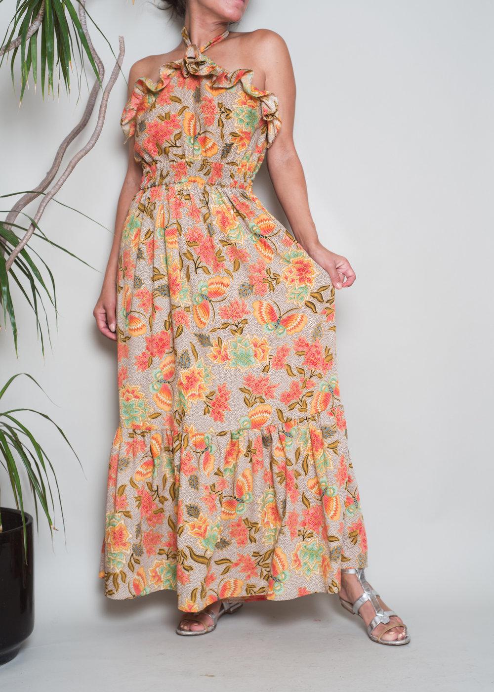 Louisa Ruffle Neck Halter $275
