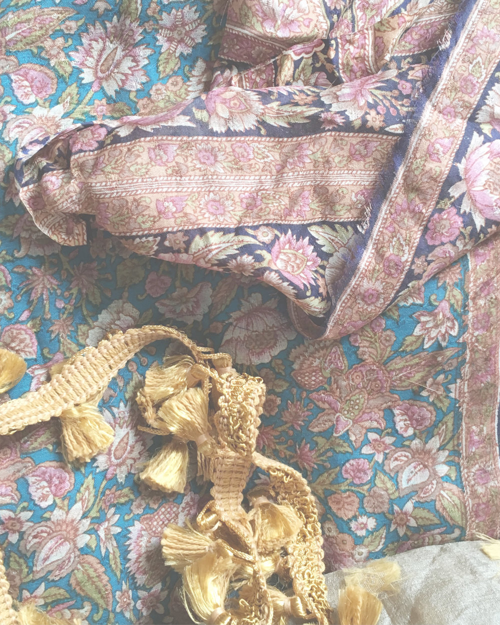 Sourcing - Vintage textiles are sourced from around the world.Each individual piece is chosen specifically for the print and color design. Fabrics that are otherwise rendered damaged or flawed are treated by us with care.