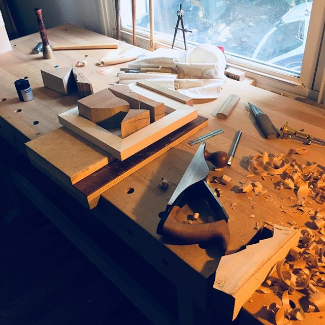 Each toy we build is truly bench crafted by one human being. What this insures is that each toy we make is its own original...a novel entity in its own right and our core value. The beginning of a narwhale picture/puzzle #woodtoys #design #handmade #woodworking #benchcrafted #narwhale