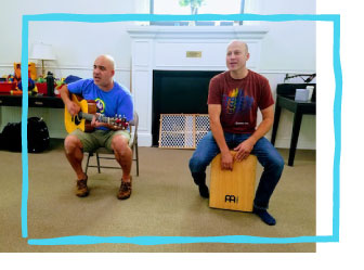 """Jay and Ray, Jams for Fams"" - Our music classes were created for babies through preschoolers, but made for you to experience the joy of music with your child. We teach all over Fairfield County, CT and make classes a place for parents and caregivers to have a good time too! If you love music like we do, you'll find our classes are exciting and playful, and the perfect way to expose your kids to music. www.jayandray.com"